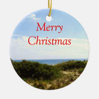 Merry Christmas Beach Ornament