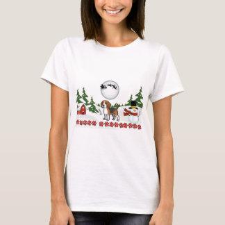 Merry Christmas Beagle Paws T-Shirt