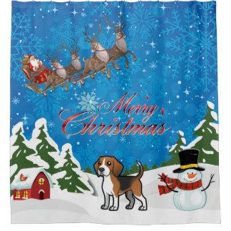 Merry Christmas Beagle With Santa