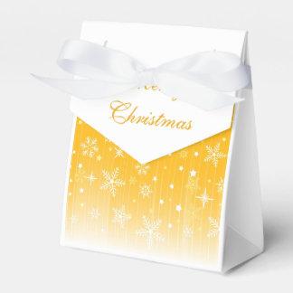 Merry Christmas Beautiful Gold Gift Bag Favor Box