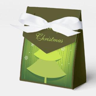 Merry Christmas Beautiful Xmas Tree Gift Bag Party Favor Box