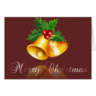 merry christmas-bell 2 note card