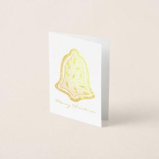 Merry Christmas Bell Sugar Cookie Sprinkles Xmas Foil Card