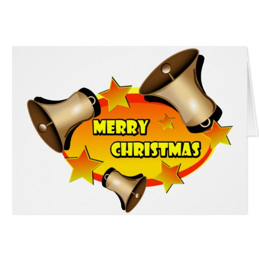 Merry Christmas Bells Greeting Cards