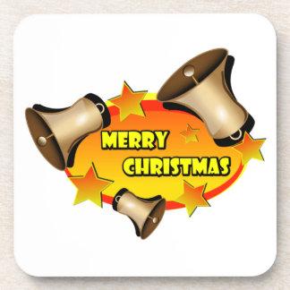 Merry Christmas Bells Drink Coasters
