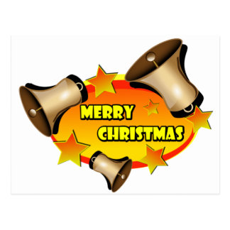 Merry Christmas Bells Postcard