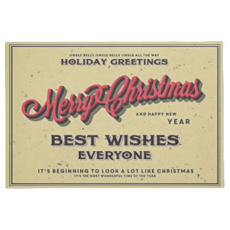 Merry Christmas Best Wishes Everyone Doormat