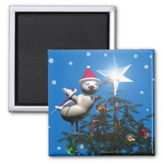 Merry Christmas Bird Magnet