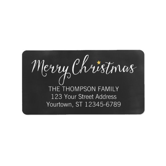 Merry Christmas Blackboard address labels