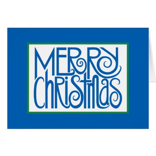 Merry Christmas Blue Card