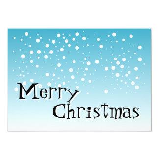 "Merry Christmas - Blue - Greetings Card 5"" X 7"" Invitation Card"