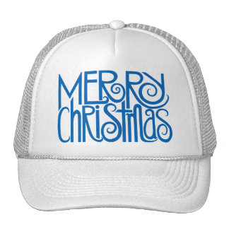 Merry Christmas blue Hat