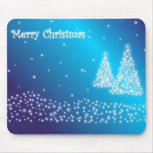 merry christmas blue mousepad