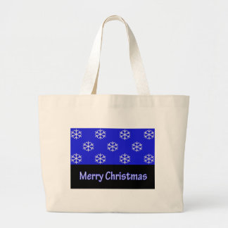 Merry Christmas Blue Snow Flake Bags
