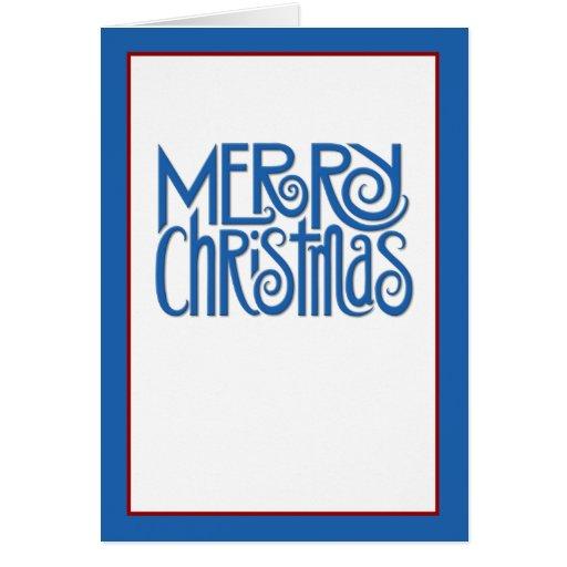 Merry Christmas blue text Card