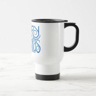 Merry Christmas blue Travel Mug