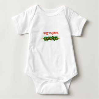 Merry Christmas bodysuit with festive garland