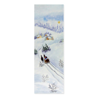 Merry Christmas Bookmark Mini Business Card