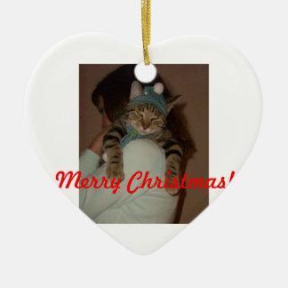 Merry Christmas-Boris Catenov Ceramic Ornament
