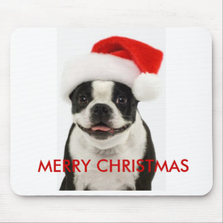 Merry Christmas Boston Santa Mousepad