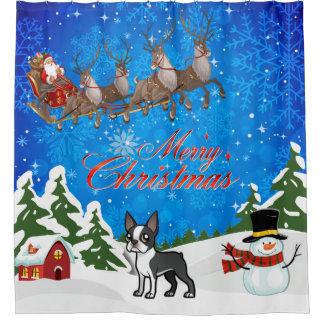 Merry Christmas Boston Terrier