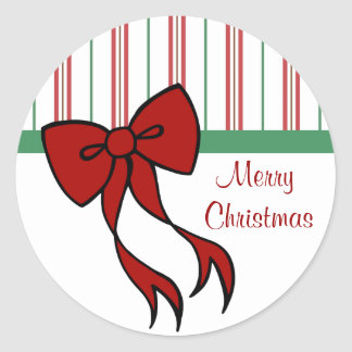 Merry Christmas Bow Stickers