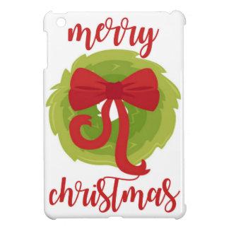 Merry Christmas Bow Wreath Cover For The iPad Mini