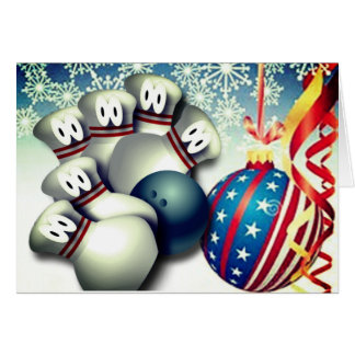 Merry Christmas Bowling Greetings Card