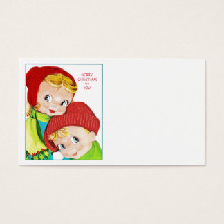 Merry Christmas Boy and Girl Business Card