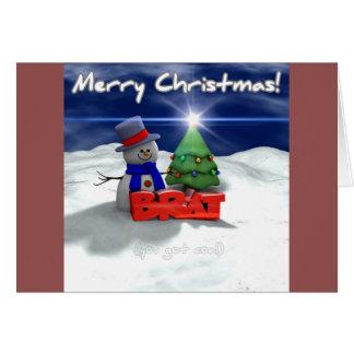 Merry Christmas, Brat Greeting Card