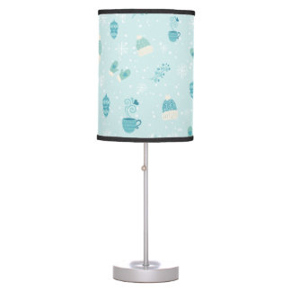Merry Christmas bundles pattern - mono color Table Lamp