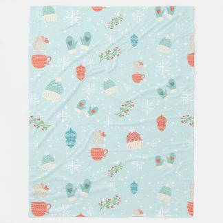 Merry Christmas bundles pattern - winter pattern Fleece Blanket