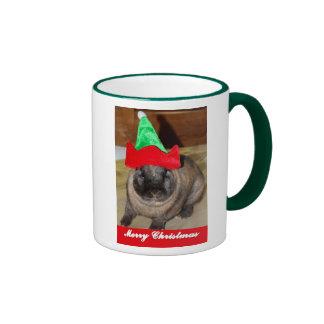 Merry Christmas Bunny With Holiday Rabbit Hat Gift Mugs
