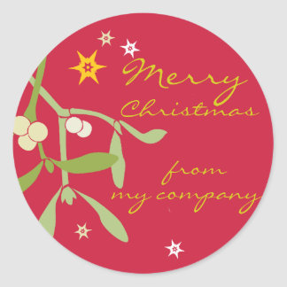 Merry Christmas business gift labels