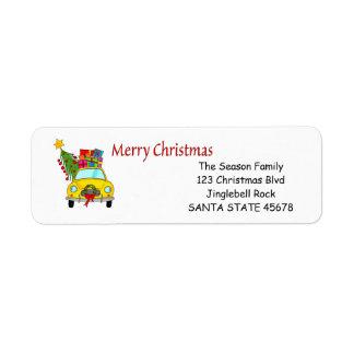 Merry Christmas car address label