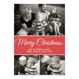 Merry Christmas Card | Flat | Red