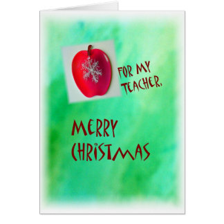 Merry Christmas Card For Teacher