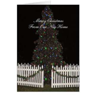 Merry Christmas Card from New Home with Tree