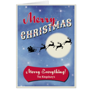 Merry Christmas Card -PERSONALIZE Holiday Card