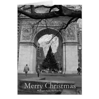 Merry Christmas Card Washington Square NYC