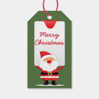 Merry Christmas Cartoon Santa Gift Tags