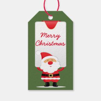 Merry Christmas Cartoon Santa Pack Of Gift Tags