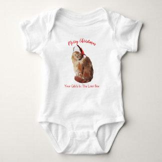 Merry Christmas Cat Baby Bodysuit