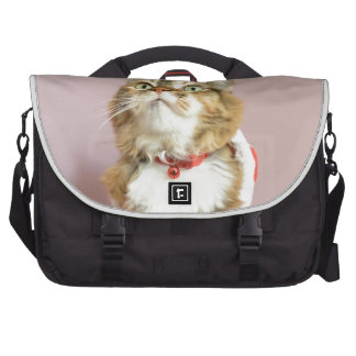 Merry Christmas cat santa puss Laptop Bags