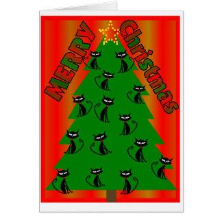 merry christmas CAT TREE Christmas Card