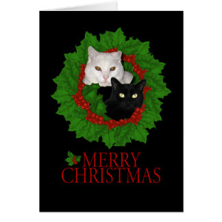Merry Christmas Cats Card