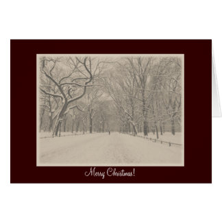 Merry Christmas - Central Park Poet's Walk Winter Card