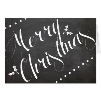 Merry Christmas chalkboard notecard