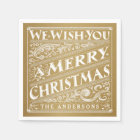 MERRY CHRISTMAS CHALKBOARD PERSONALIZED NAPKINS