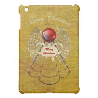 Merry Christmas - Christmas Angel - Gold iPad Mini Case